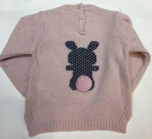 Jersey de algodón y lana, para bebé