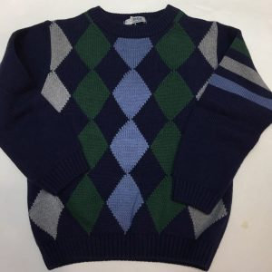Jersey a rombos, algodón y lana