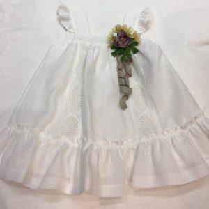 Vestido Rochy de lino color hueso