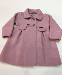 Abrigo de lana cocida, color rosa