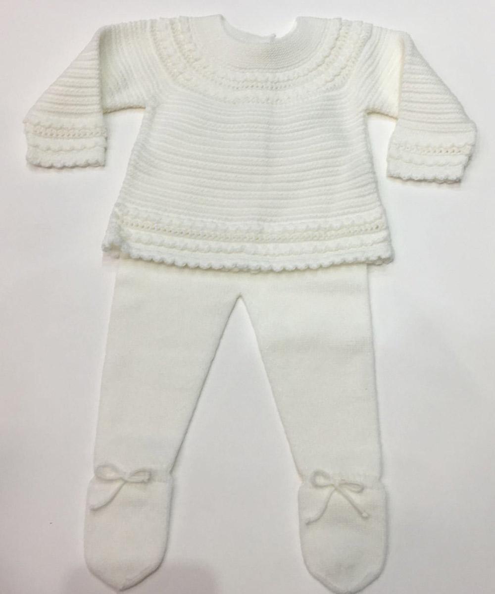 8455a0ce3 Trajes de punto para bebés