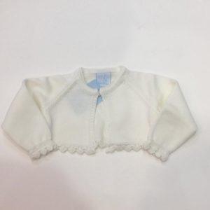 Bolero Granlei para bebé y niña, blanco