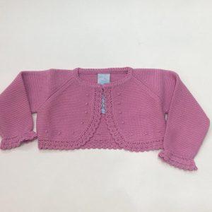 Bolero Granlei para bebé y niña, rosa chicle