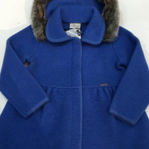 Chaquetón azul con capucha desmontable Marae