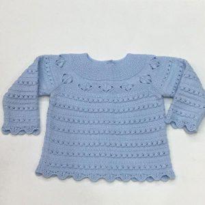 Jubón azul para bautizo