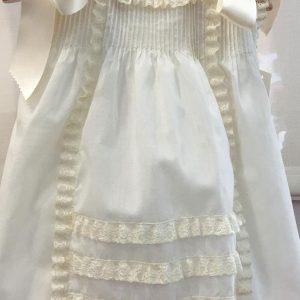Vestido faldón bautizo confección artesanal