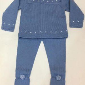 Conjunto de polaina y jubón azul