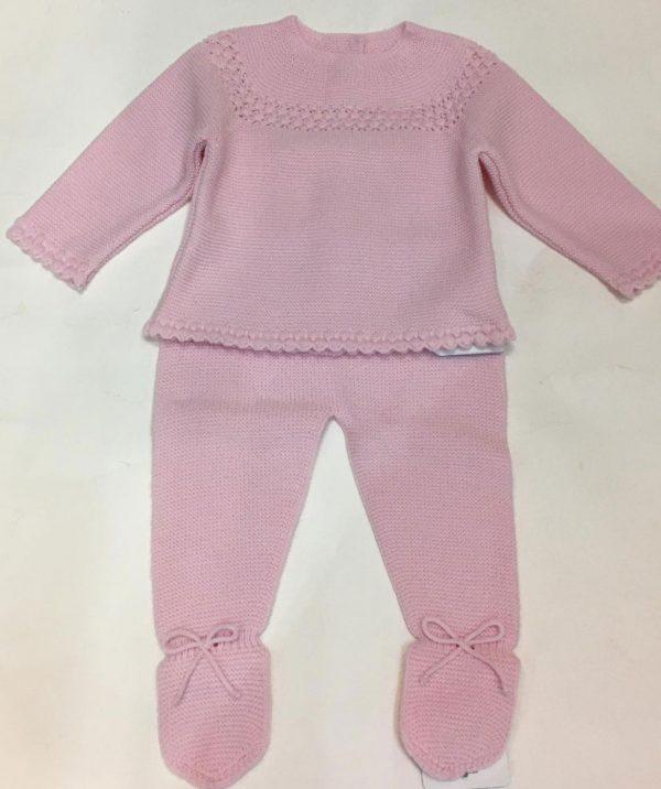 Conjunto de polaina y jubón rosa