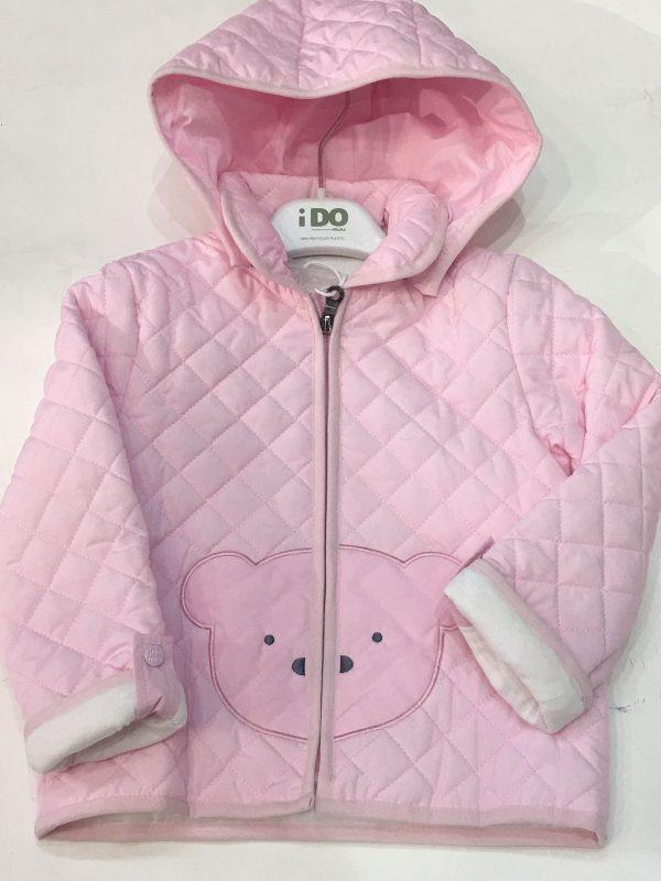 Husky rosa forrado de algodón