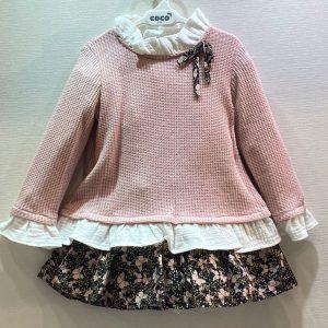 Conjunto de falda y sudadera