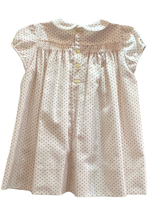 Vestido artesanal punto smock